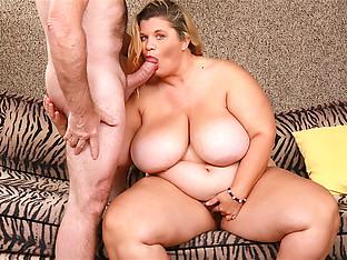 Hairy Blonde BBW Hayley Jane Has Her Mega Milkers Sprayed After Making Love