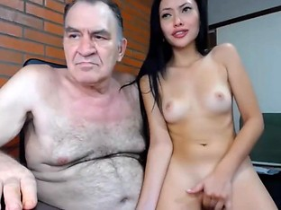 OLD MAN FUCKS HOT ASIAN GIRL - MEET HER ON JENCAMS.ME