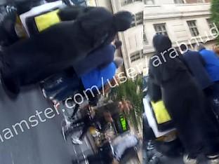 Hijab abaya ass voyeur walk (khalij) UK  Part1